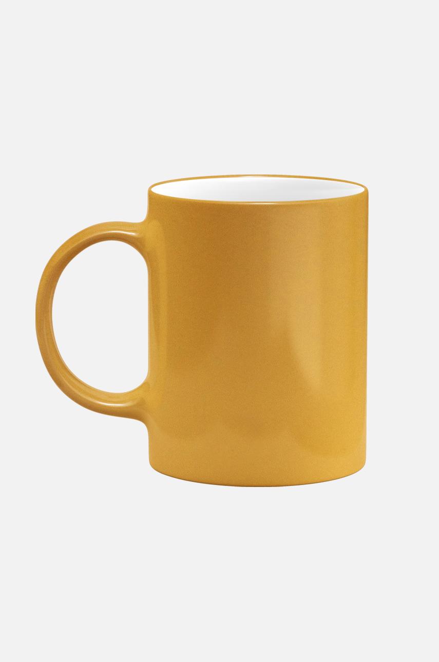 Mug silver and gold
